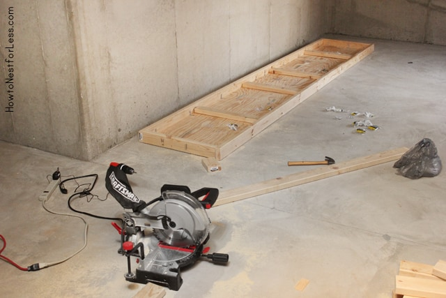 build a basement workshop bench