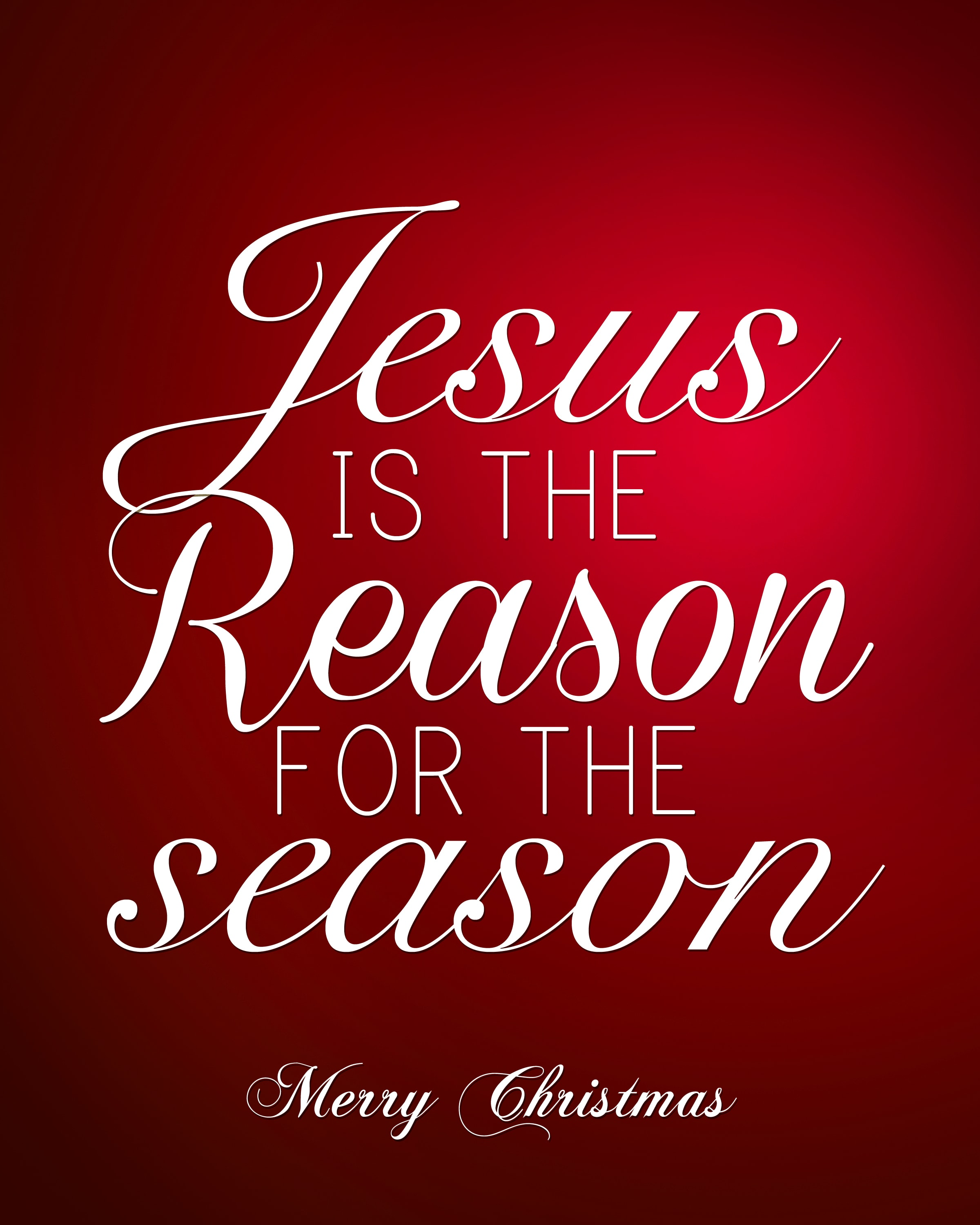 Jesus is the reason for the season free printable poster.