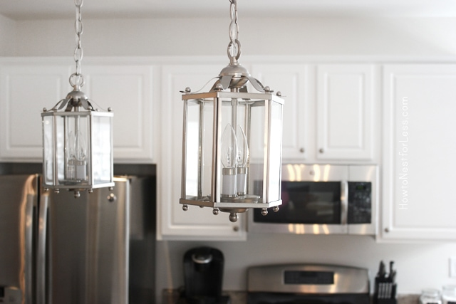 kitchen lantern lighting