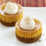 mini pumpkin pie cheesecakes