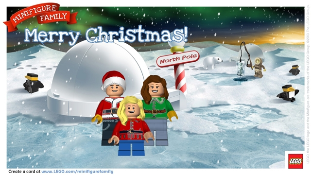 LEGO minifigure holiday card