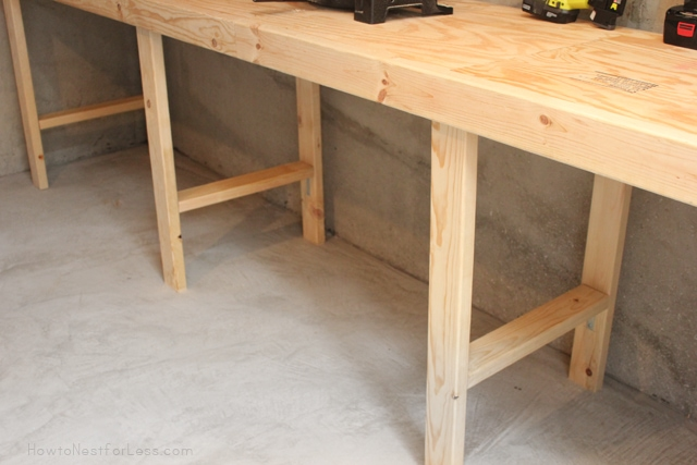workshop bench construction how to nest for less