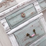 Distressed Chalk Paint Desk Makeover