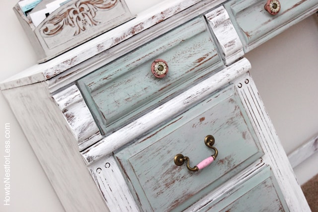 Distressed Chalk Paint Desk Makeover How to Nest for Less™