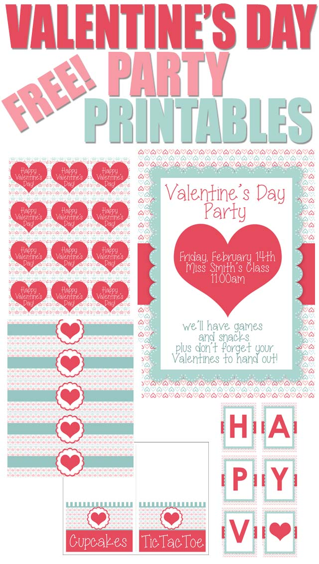 "image regarding Valentines Free Printable named Valentines Working day Social gathering No cost Printables - How toward Nest for Lessâ""¢"
