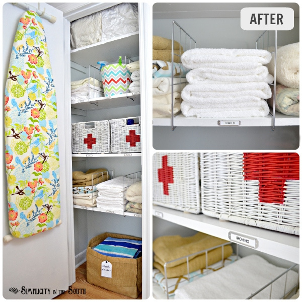 Hall Linen Closet Organization Ideas ORGANIZED LINEN CLOSET From Simplicity  In The South