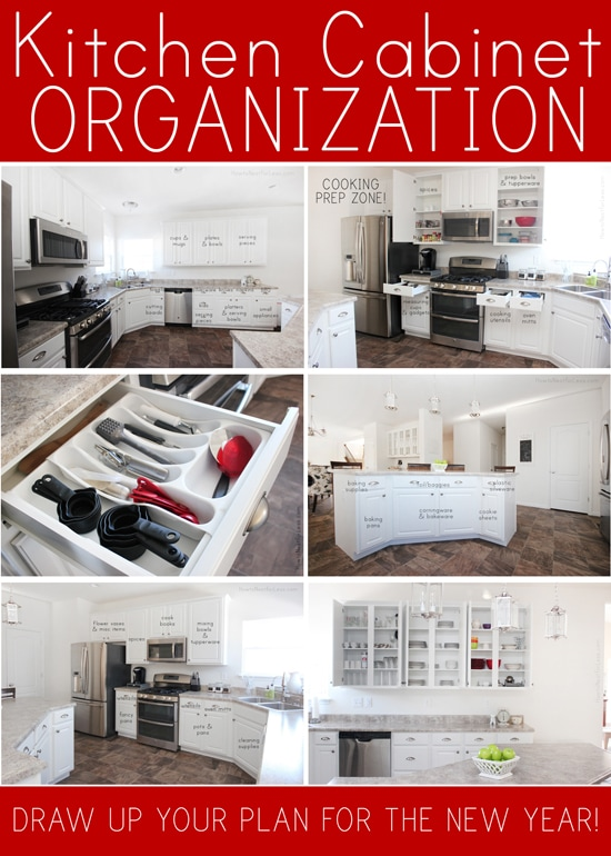kitchen cabinet organization plan - Kitchen Cabinet Organizers