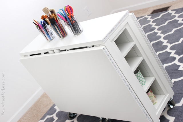 Craft room folding desk home pinterest for Fold up craft table