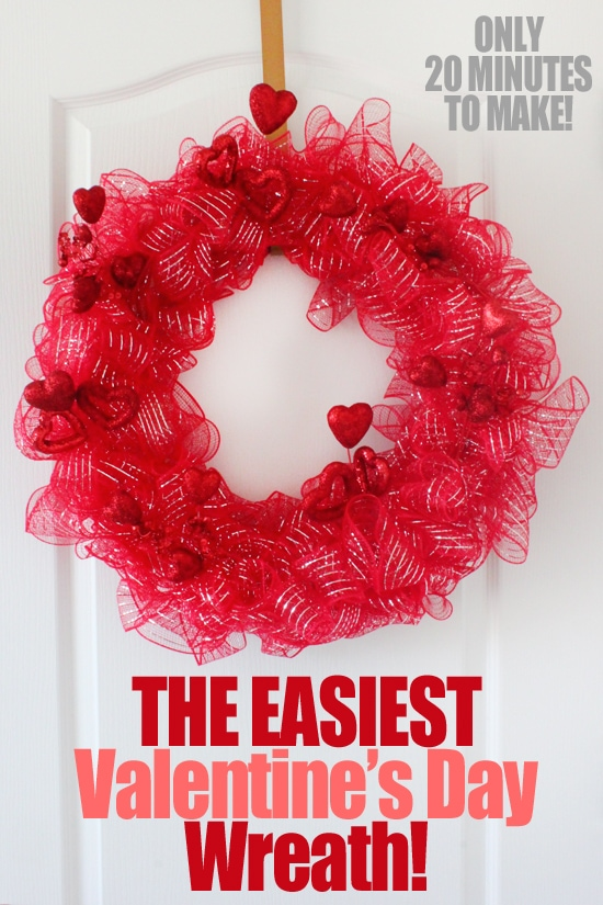 The easiest valentine's day wreath poster.