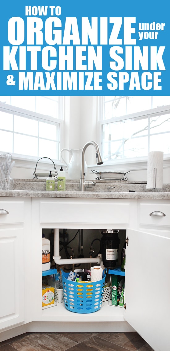 how to organize under your kitchen sink