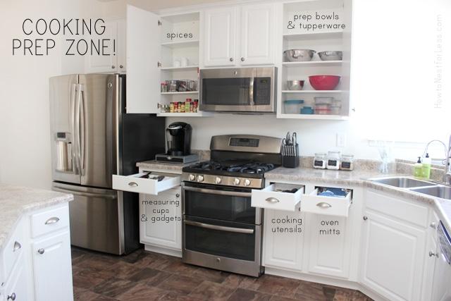 kitchen prep zone organization