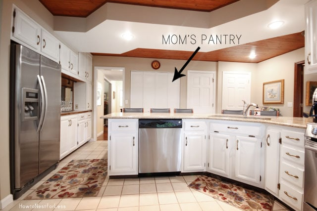 moms kitchen pantry makeover