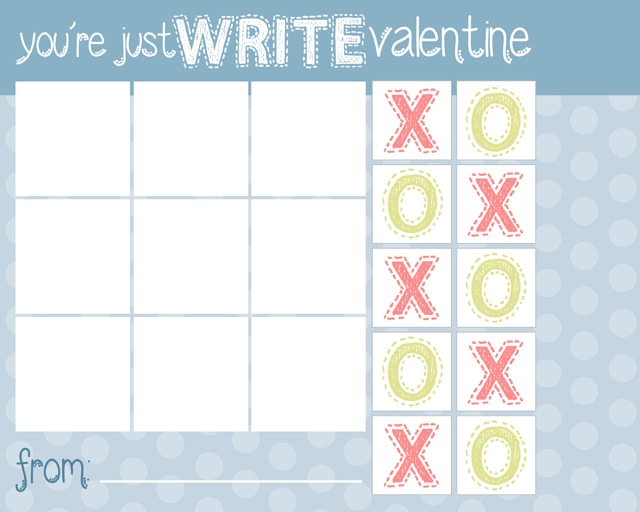 Homemade Kids Valentine: Tic Tac Toe