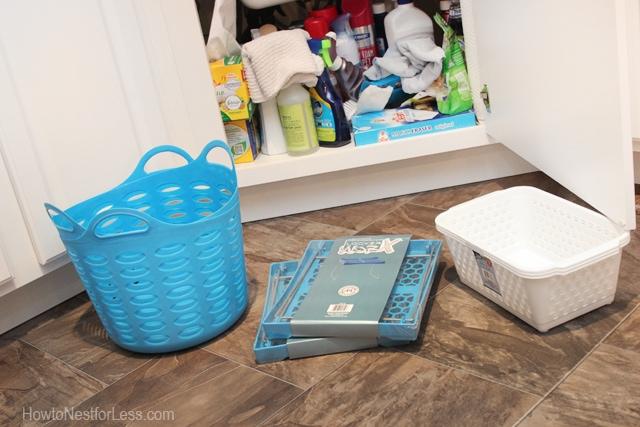 under kitchen cabinet storage organization