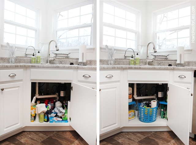 organize under the kitchen sink how to organize your kitchen sink how to nest for 7218