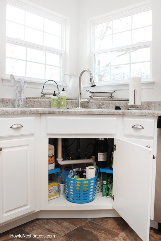 How to Organize Under Your Kitchen Sink - How to Nest for