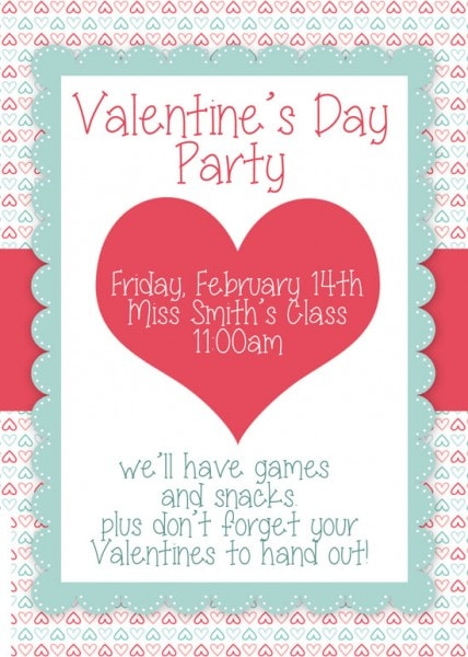 Valentines day invitation.