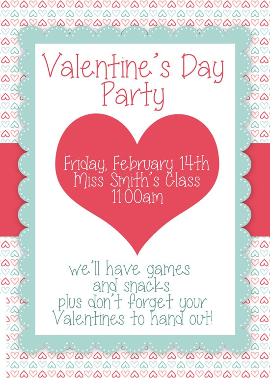 valentine u0026 39 s day party free printables