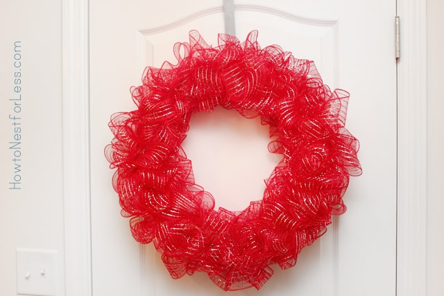 valentines day mesh wreath