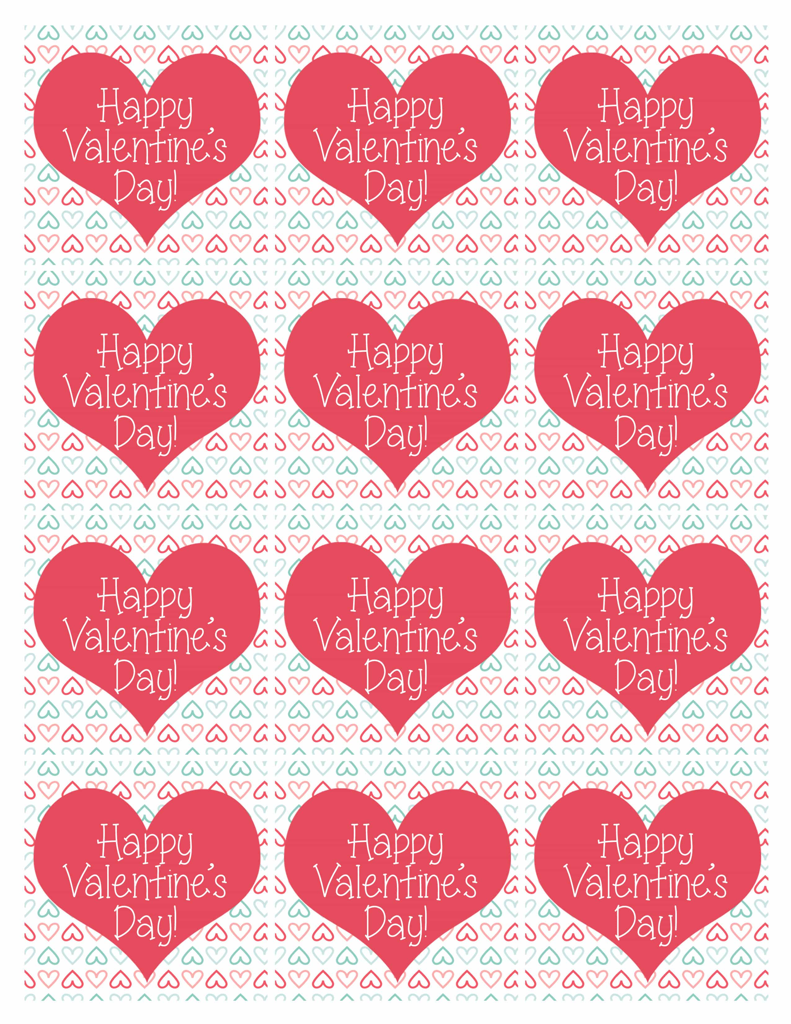 Uncategorized Valentine Heart Template valentines day party free printables how to nest for treat bag tags