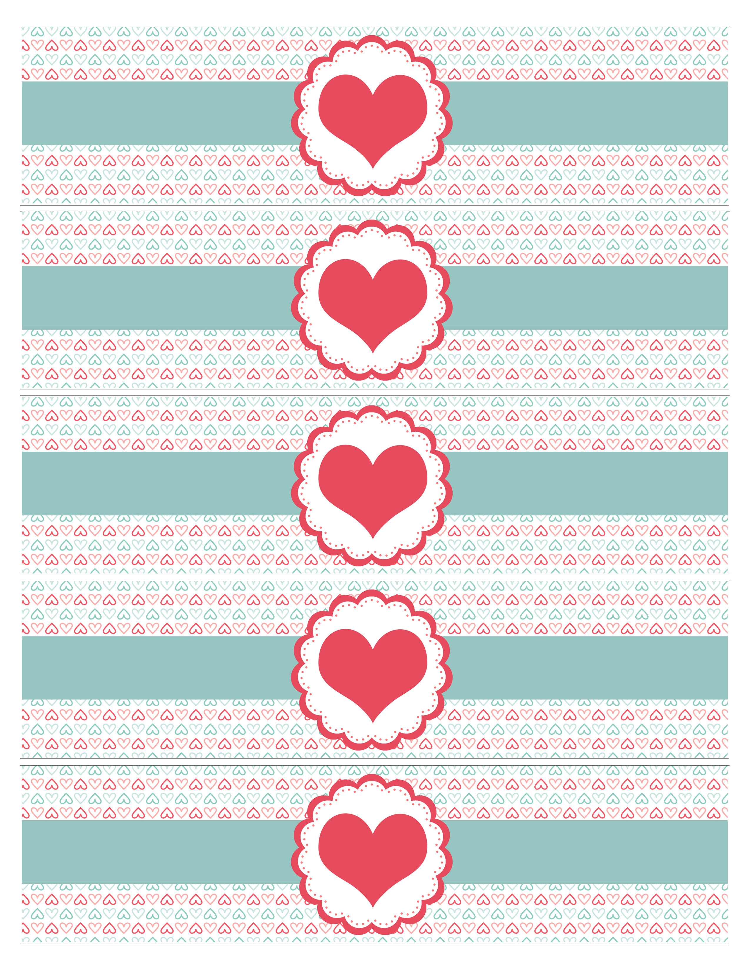 valentines day water bottle labels