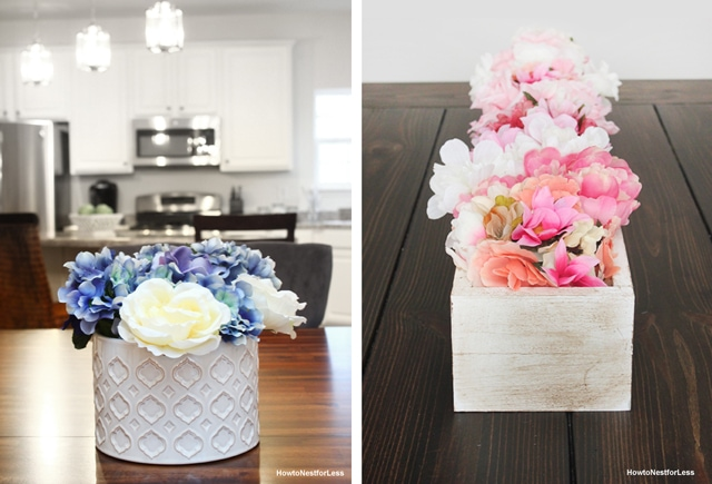 DIY flower centerpieces on a budget