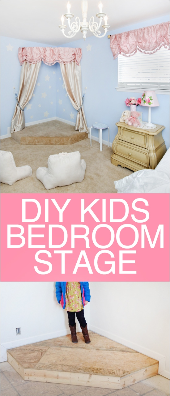 DIY kids bedroom stage