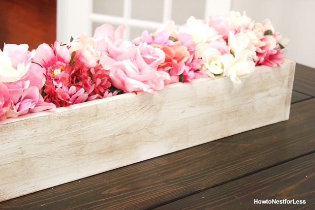 DIY table trough centerpiece