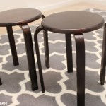 before stenciled stools