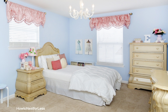 blue pink girl bedroom