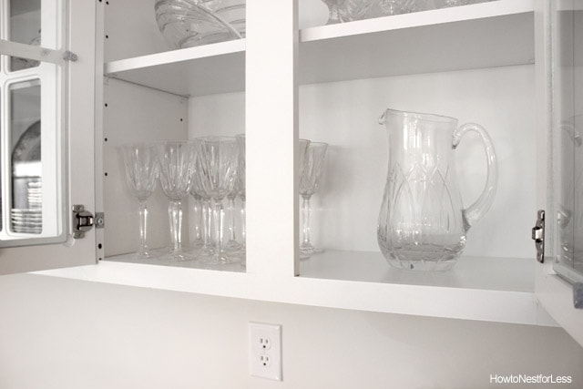 butlers pantry glass cabinets