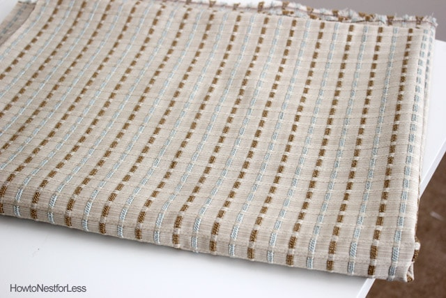 duck egg blue brown fabric