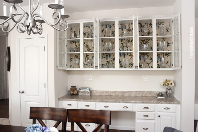 fabric lined butlers pantry