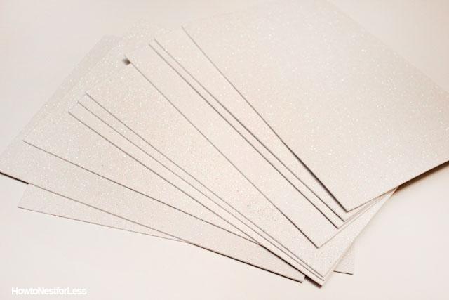 glitter paper wall decals