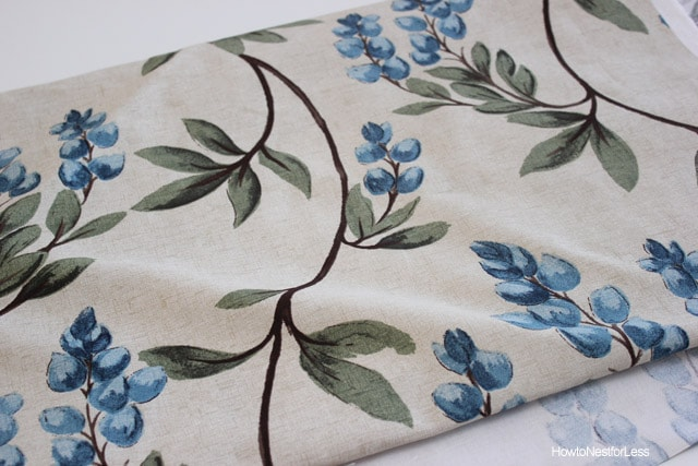 hancock fabrics blue flowered vine