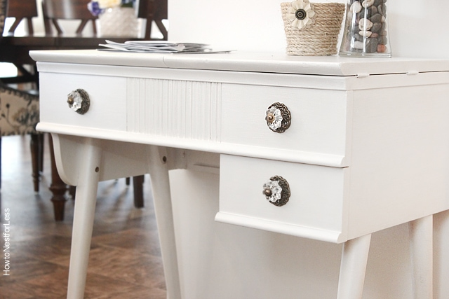 old sewing table makeover