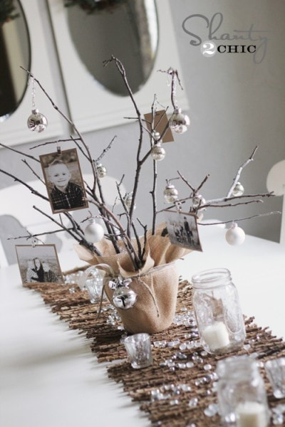 photo-tree-diy centerpiece