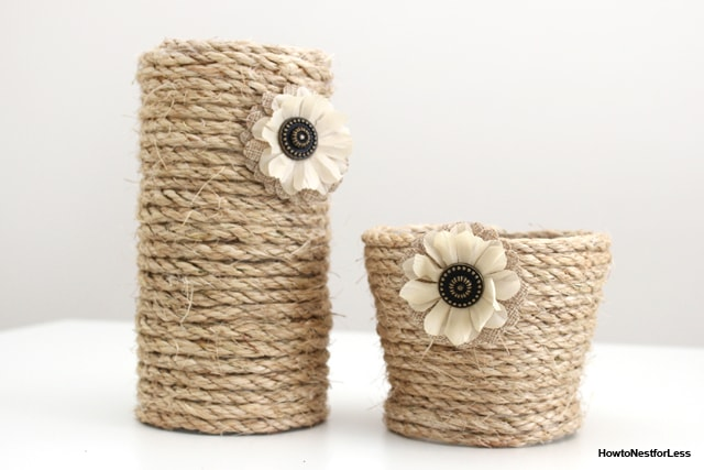 DIY Rope Vase Centerpiece - How to Nest for Less™