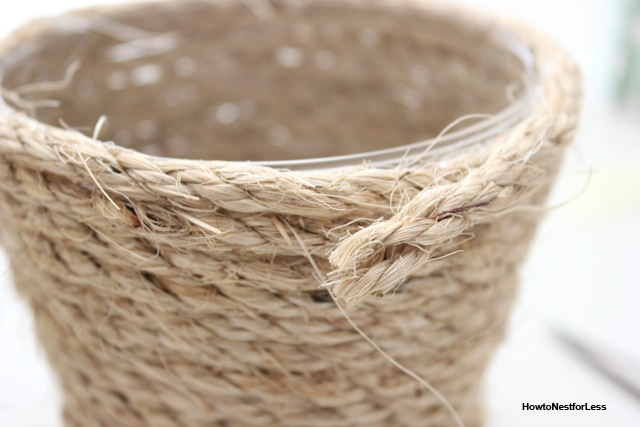rope vase diy tutorial