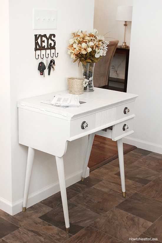 sewing table turned end table
