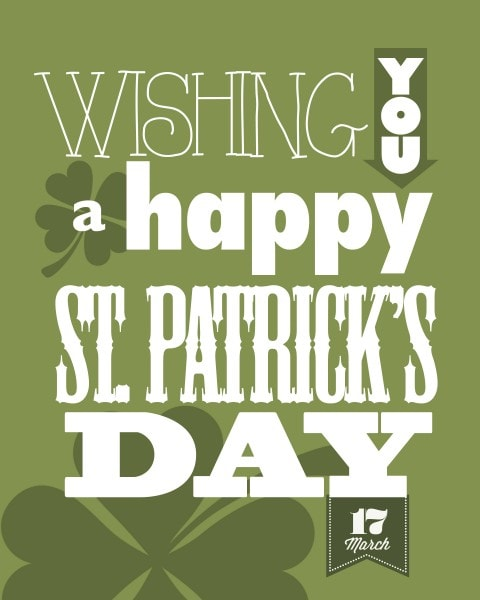 st patricks day free printable