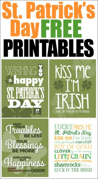 st patricks day free printables