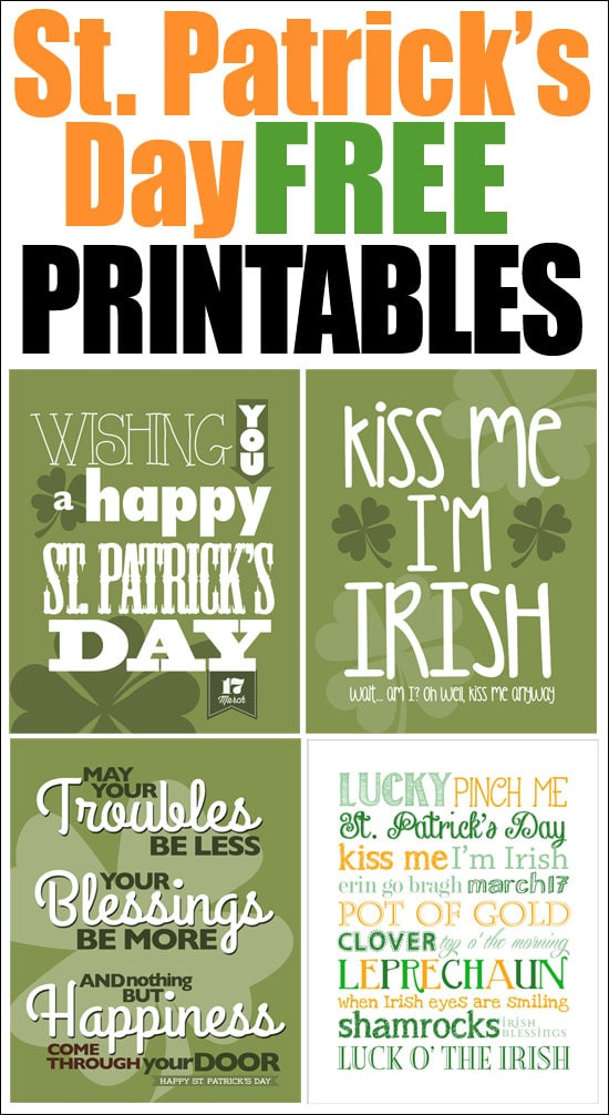"photo about St Patricks Day Printable named St. Patricks Working day No cost Printables - How toward Nest for Lessâ""¢"