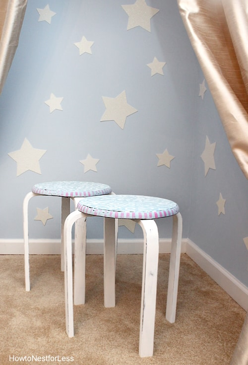 stenciled stools for kids
