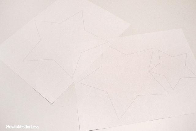 white star DIY decals