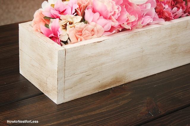 wood planter centerpiece