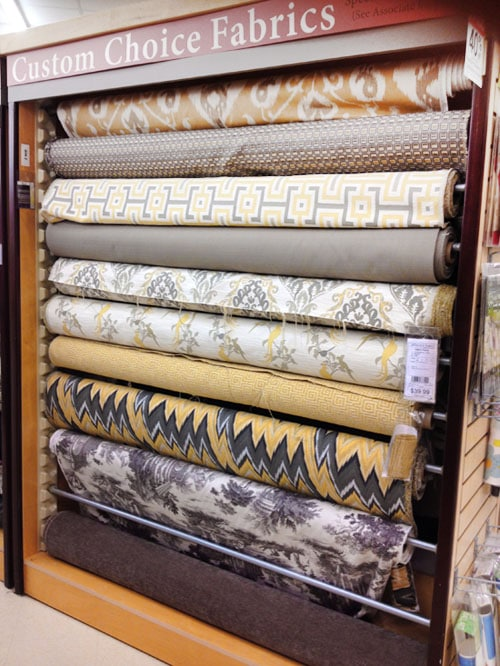 yellow and gray fabric