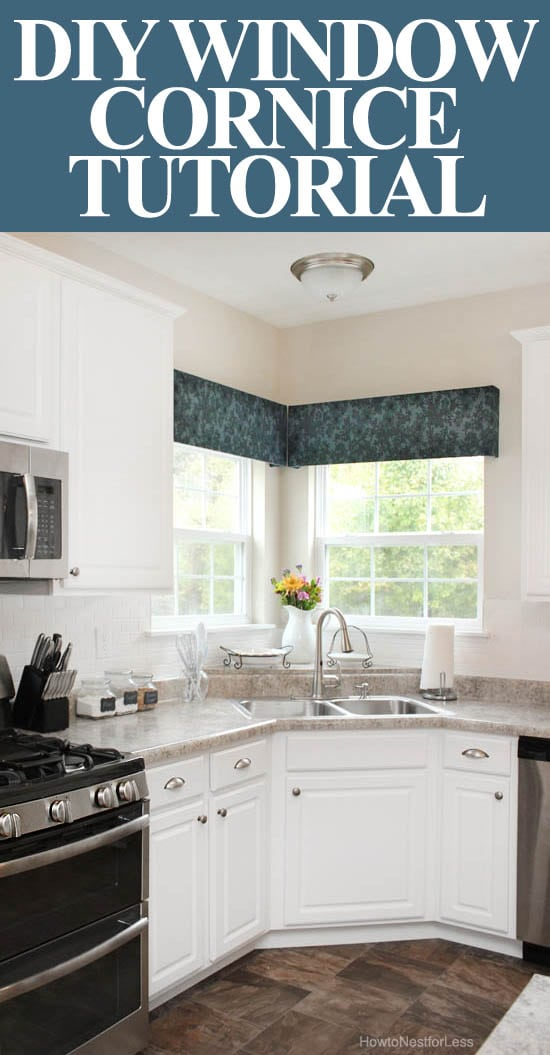 DIY window cornice TUTORIAL
