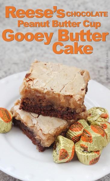 chocolate peanut butter gooey butter cake