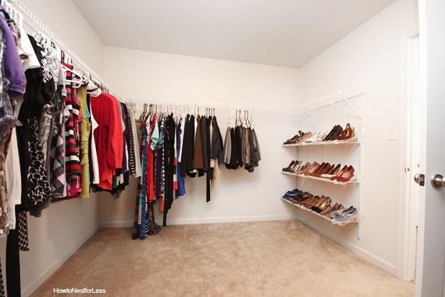 Closet Shoe Organization Makeover